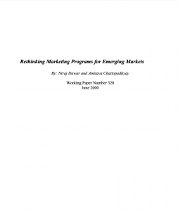 Rethinking Marketing Programs for Emerging Markets