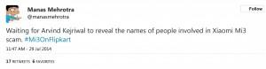 Xiaomi frustration tweet