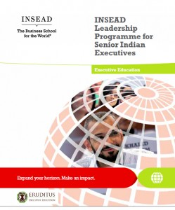 INSEAD Leadership Programme for Senior Indian Executives (ILPSIE)