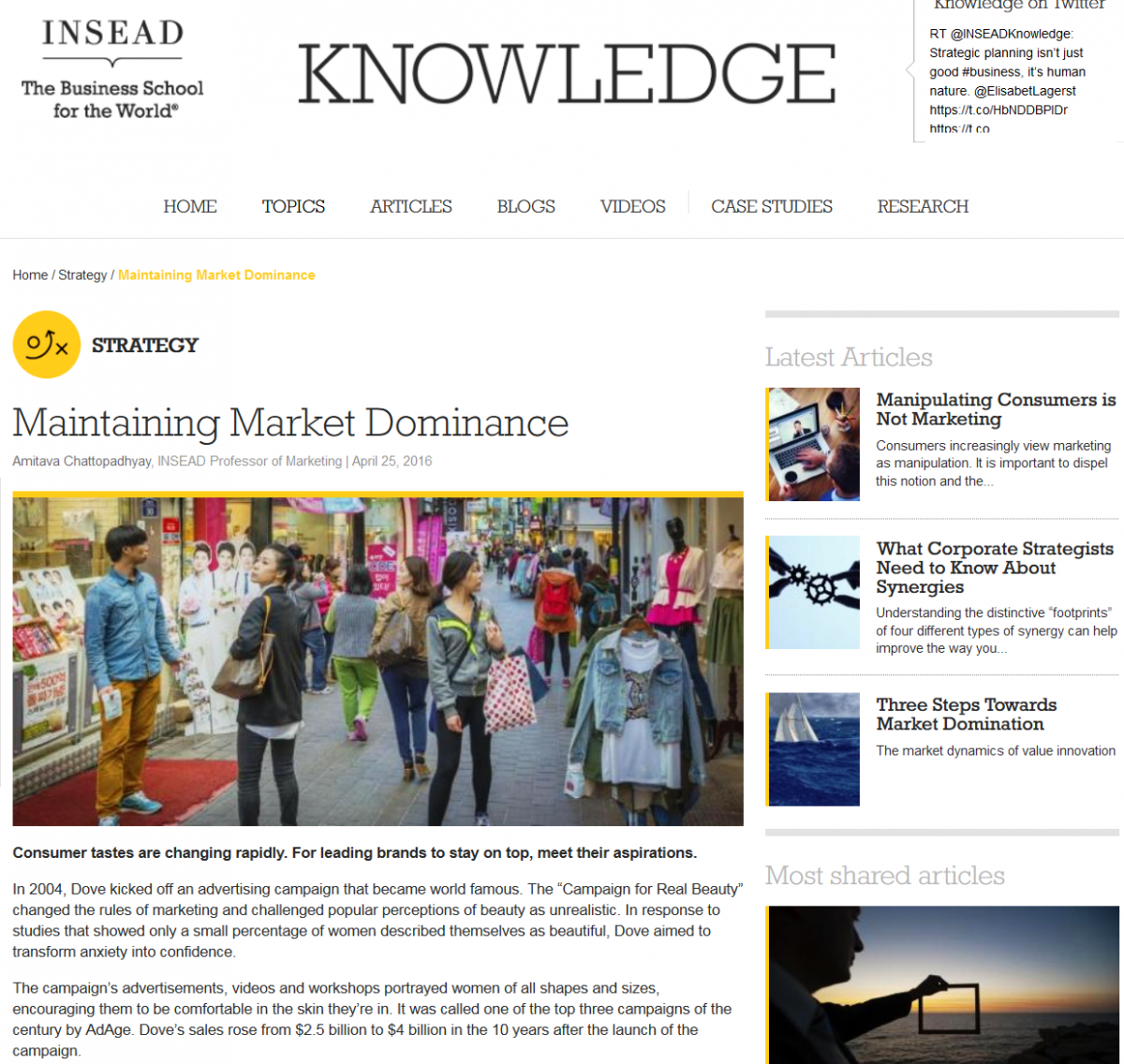 Coverage at INSEAD Knowledge