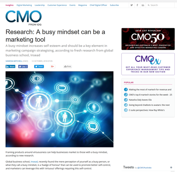 Coverage at CMO